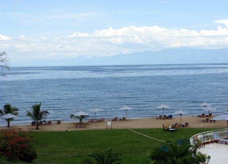 Strand vor dem Kivu-Serena Hotel in Gisenyi