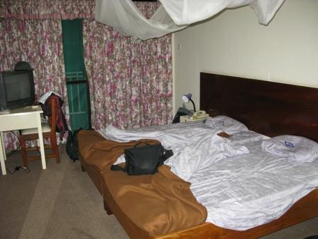 Im Hotel Margherita in Kasese (Tansania) konnten wir uns von den Strapazen des Besuchs im QENP (Nationalpark) erholen