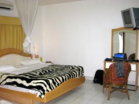 Im Hotel Village in Bujumbura logierte ich während dem Seminar zur Strategie der Schweiz in der Region der Grossen Seen Das Hotel