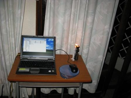Manchmal sind die Arbeitsbedinungen auch prekär: Hier in der Villa Enz in Bukavu hat es nur manchmal Strom, fast nie Wasser und selten Internetanschluss.