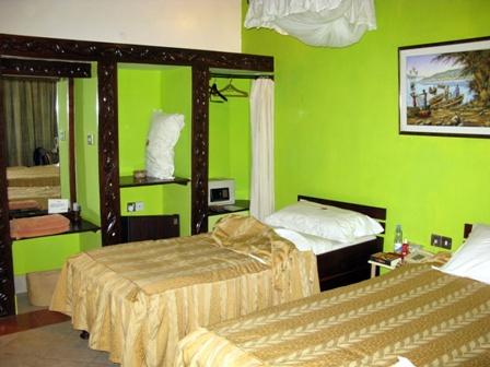 Das Hotel Tilapia liegt direkt am Viktoriasee in Mwanza